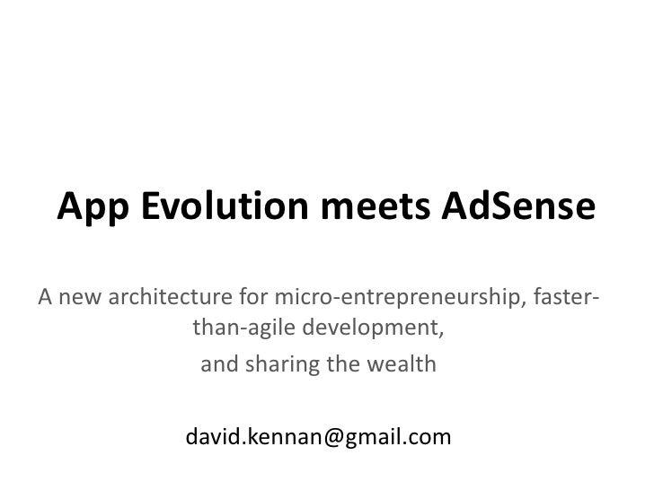 App evolution meets adsense