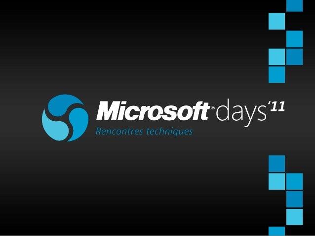 MSDays - AppFabric, le middleware disponible aussi en nuage