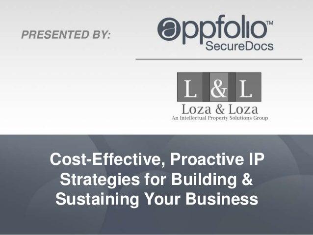 Cost-Effective, Proactive IP Strategies For Growing & Sustaining Business