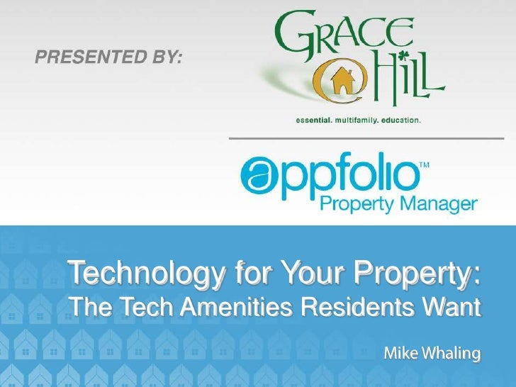 Technology for Your Property:The Tech Amenities Residents Want