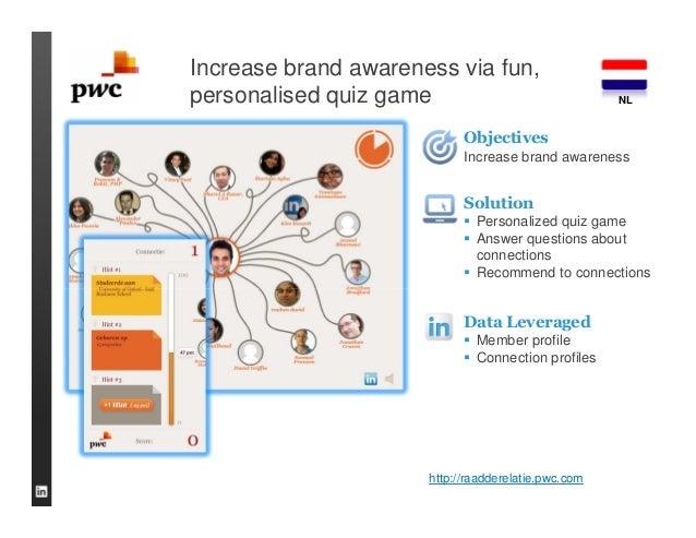 Increase brand awareness via fun,personalised quiz game                               NL                            Object...