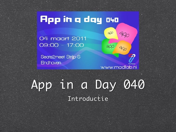 App in a Day 040     Introductie