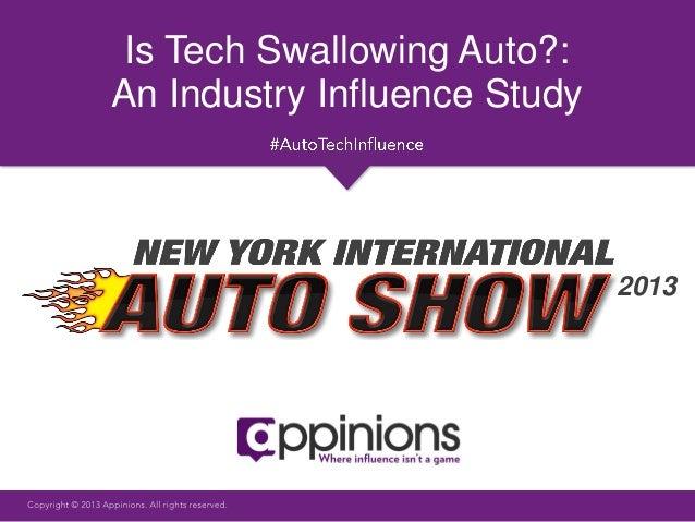 Appinions Auto Tech Influence Study