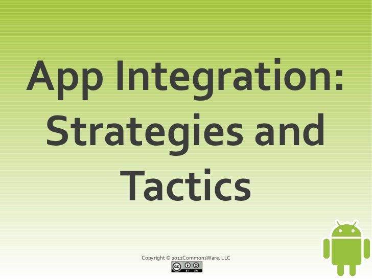 App Integration (Revised and Updated)