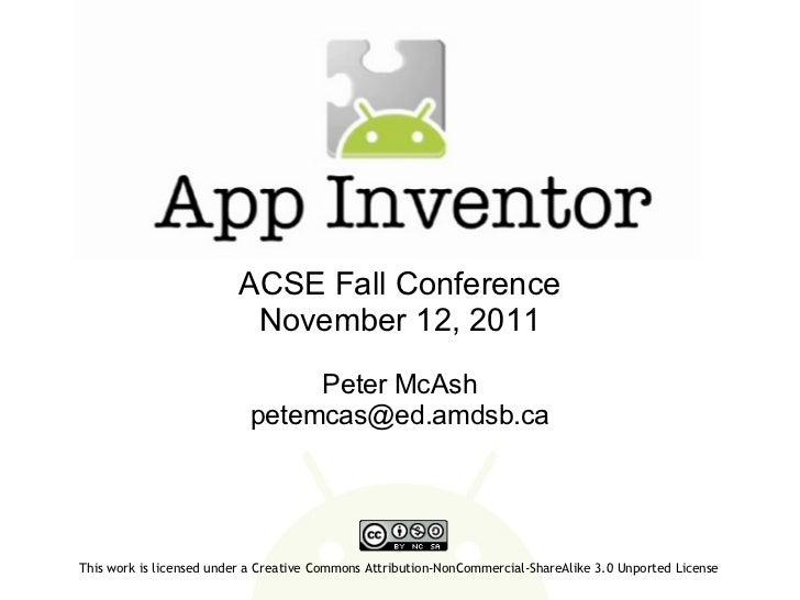 App Inventor - ACSE