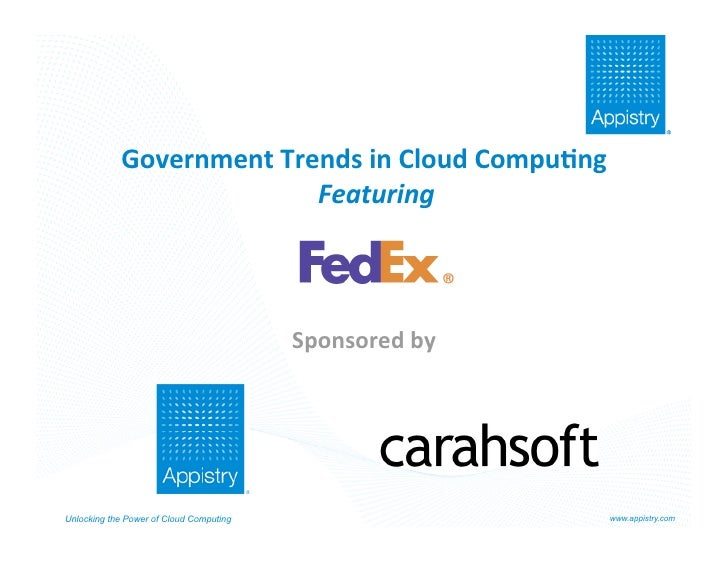 Appistry Cloud Computing for Government Featuring FedEx