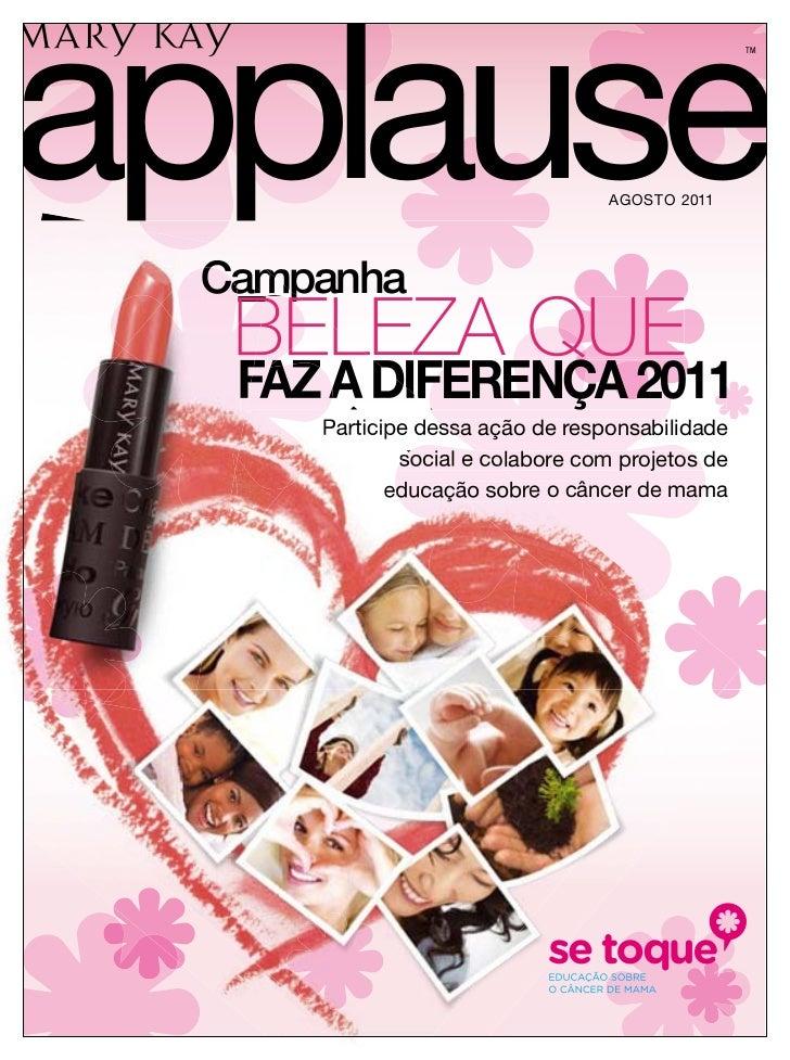applause                                                 TM                                 AGOSTO 2011 Campanha  BELEZA Q...