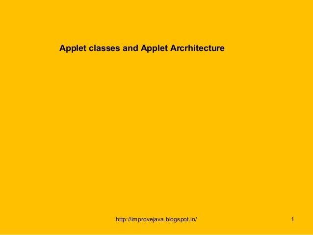 Appl clas nd architect.56