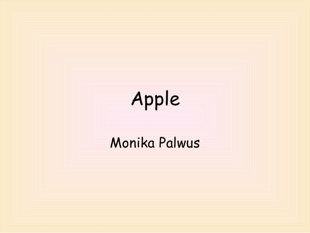 Apple Monika Palwus
