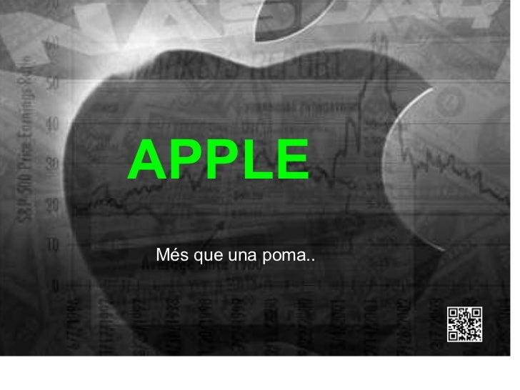 Més que una poma.. APPLE