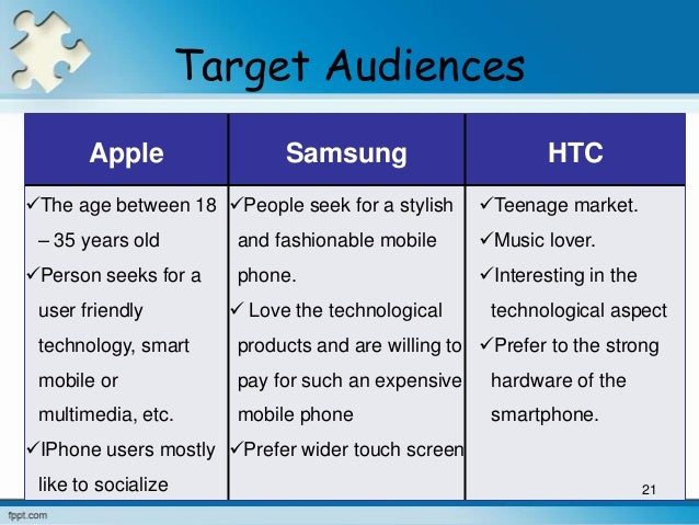 target market of samsung mobile Product strategy through product diversification of the samsung galaxy brand is central to the marketing strategy of samsung  status while there are also models targeted toward younger or budget-conscious consumers  series have also reintroduced the use of stylus pens in mobile computing devices.