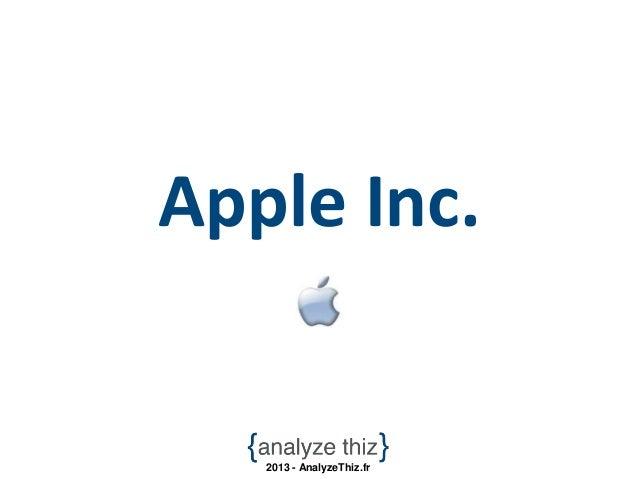Apple Inc.   2013 - AnalyzeThiz.fr