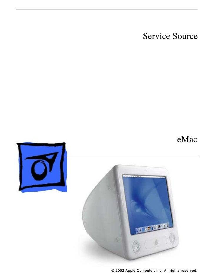 Apple eMac Hardware Service Manual