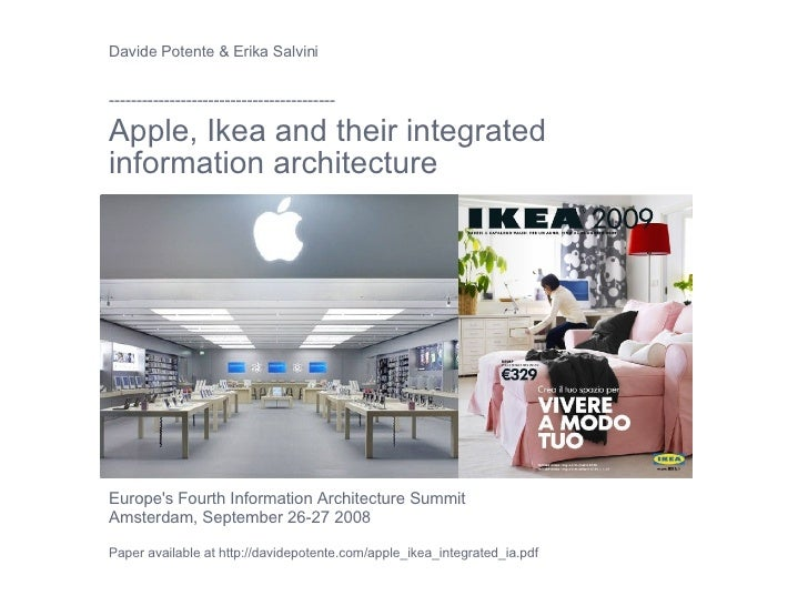 Apple, Ikea and their integrated IA