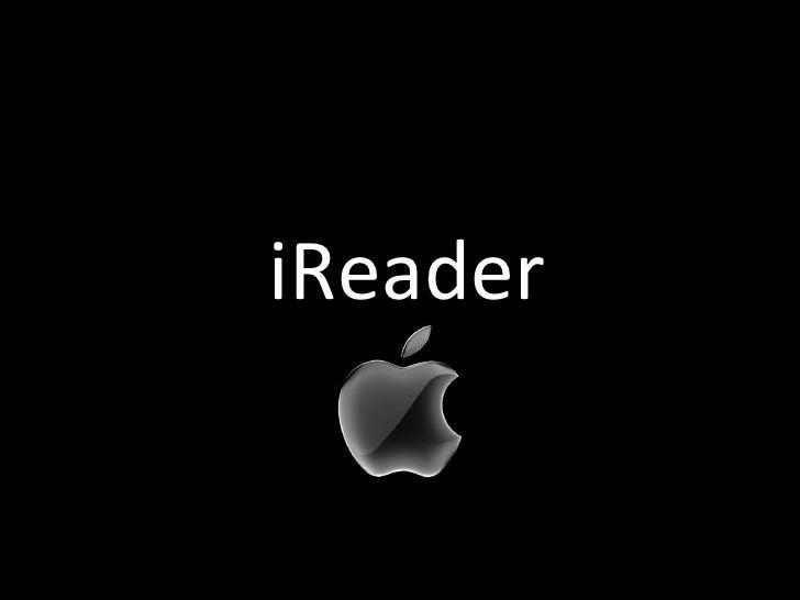 Apple iReader Presentation