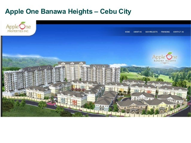 Apple One Banawa, Cebu City Buyer's Presentation Invest in Your Future