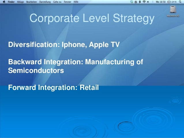 Apple corporate diversification strategy