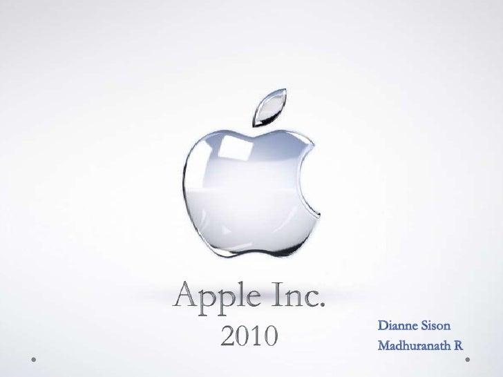 Case Analysis - Apple 2010