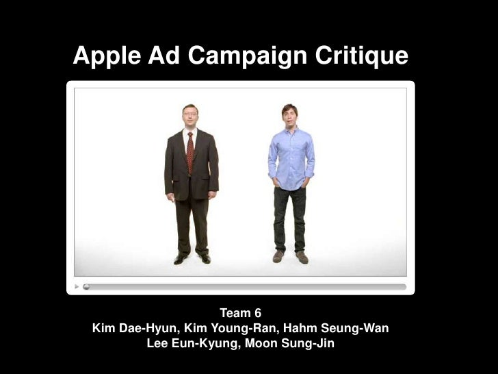 Apple Ad Campaign Critique