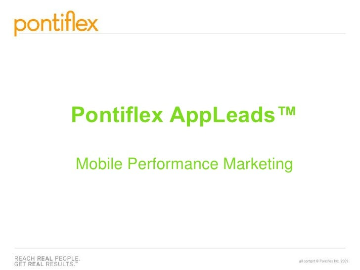 Pontiflex AppLeads™Mobile Performance Marketing