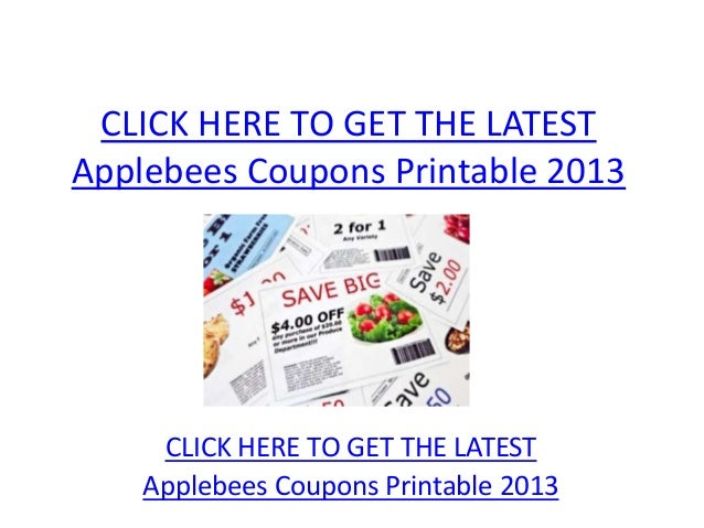 Applebees Coupons Printable 2013 - Applebees Coupons Printable 2013