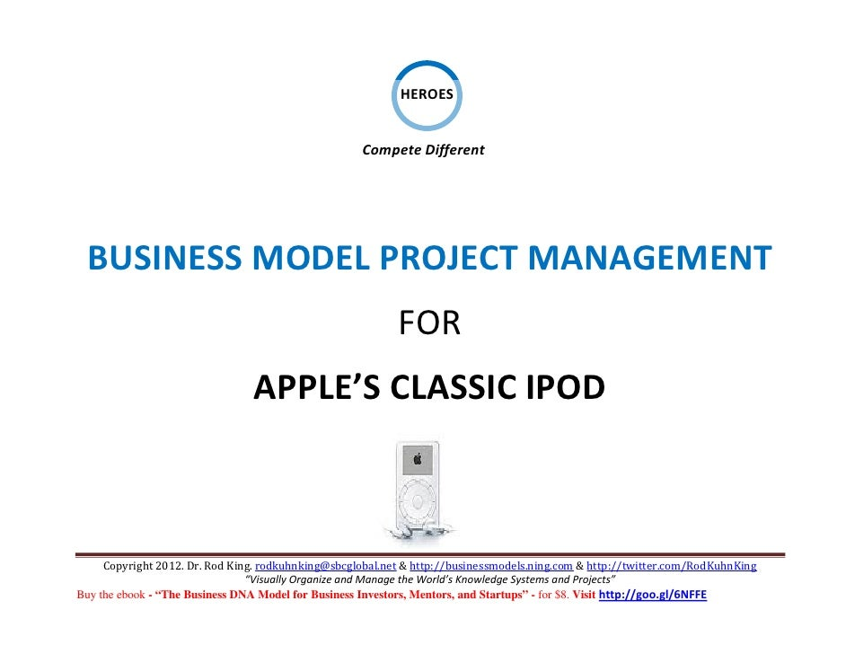 Business Model Project Management for APPLE'S Classic iPod