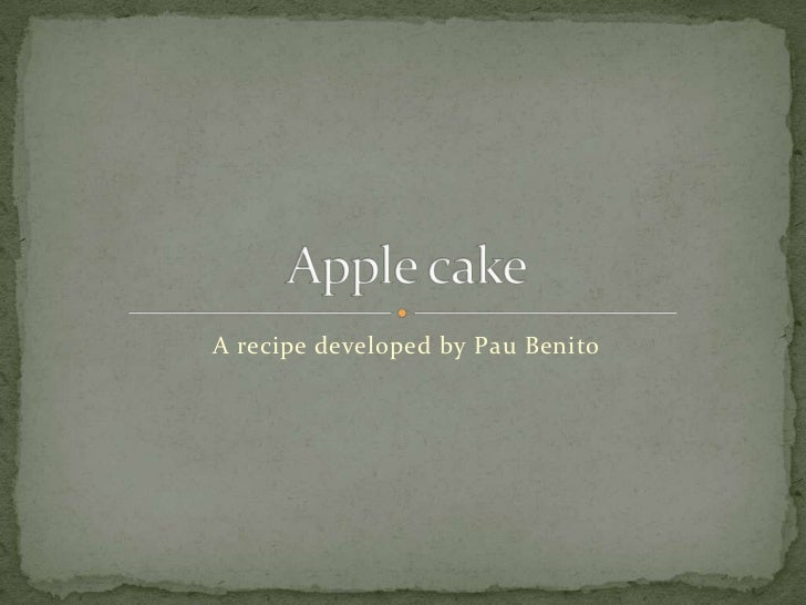 A recipe developed by Pau Benito