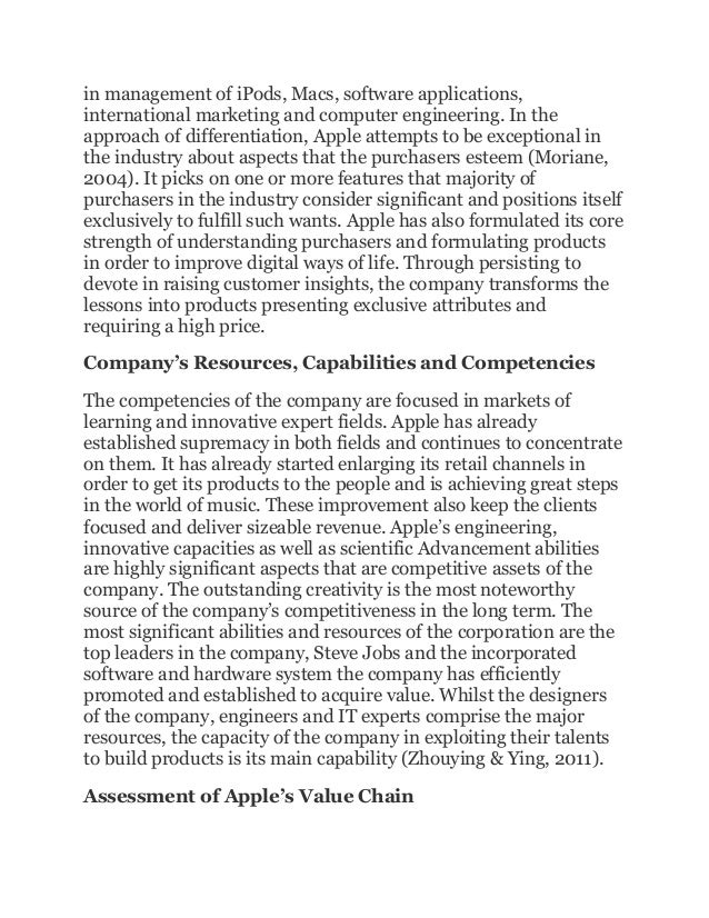 apple company essay The main conclusion that can be drawn is we found to be the most interesting about apple is how they are very innovative and early adapters apple is usually the.