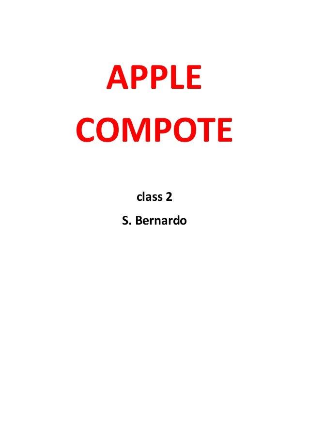 APPLE COMPOTE class 2 S. Bernardo