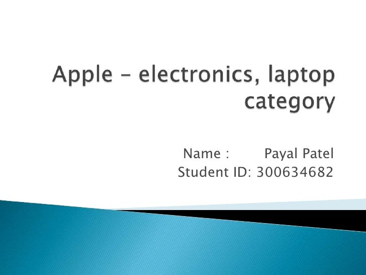 Apple – electronics, laptop category power point slide