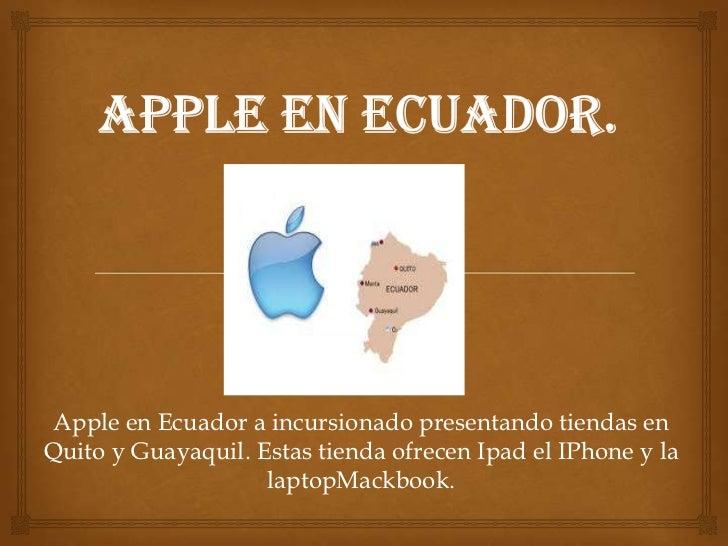 Apple en ecuador