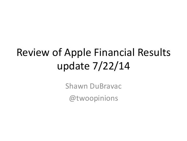 Examination of Apple Sales (iPod, iPhone, iPad, and Mac) from Quarterly Financial Results