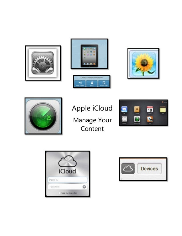 Apple iCloud Manage Your Content