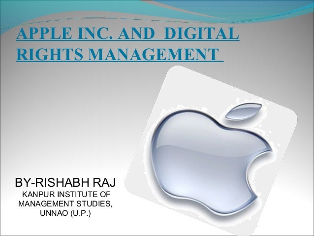 Apple inc. and digital management