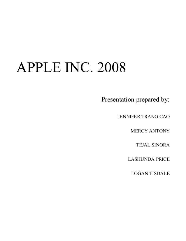 Apple Inc 2008 Report