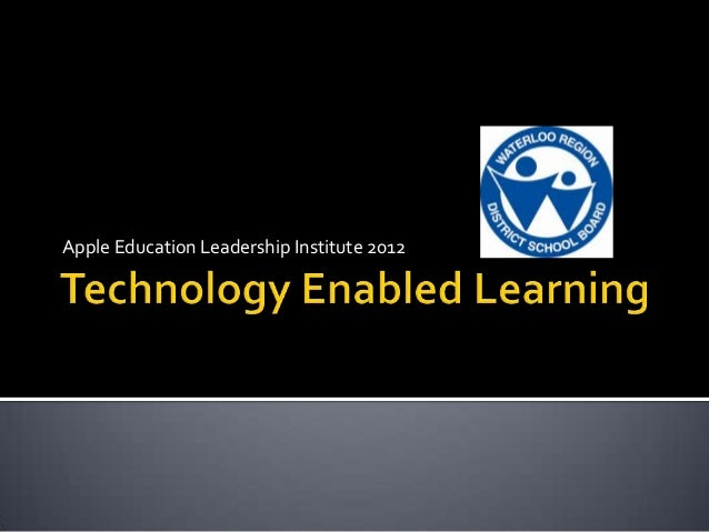 Apple Education Leadership Institute 2012