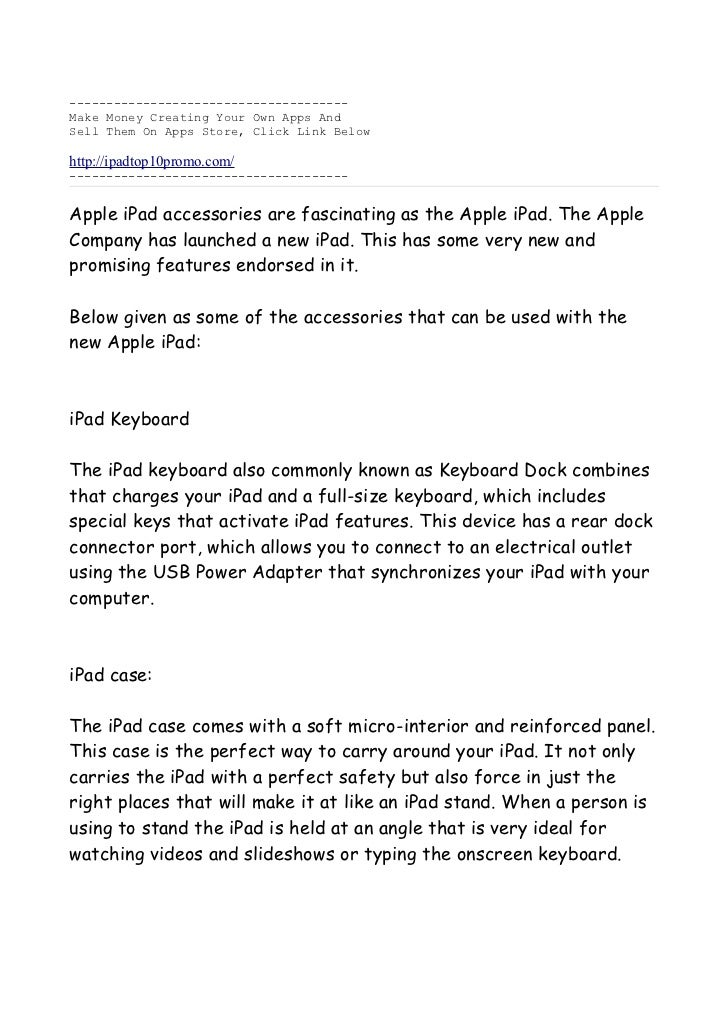 The Best Accessories For Ipad Is Found In This Document