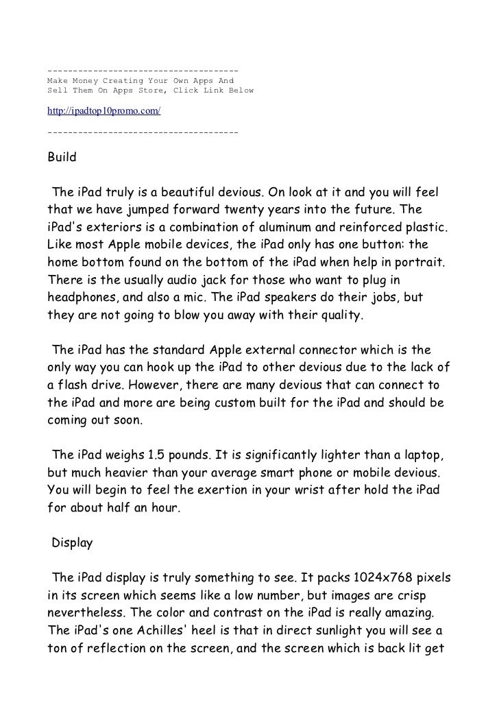 Another Ipad Review Version 2 - Read Before You Buy