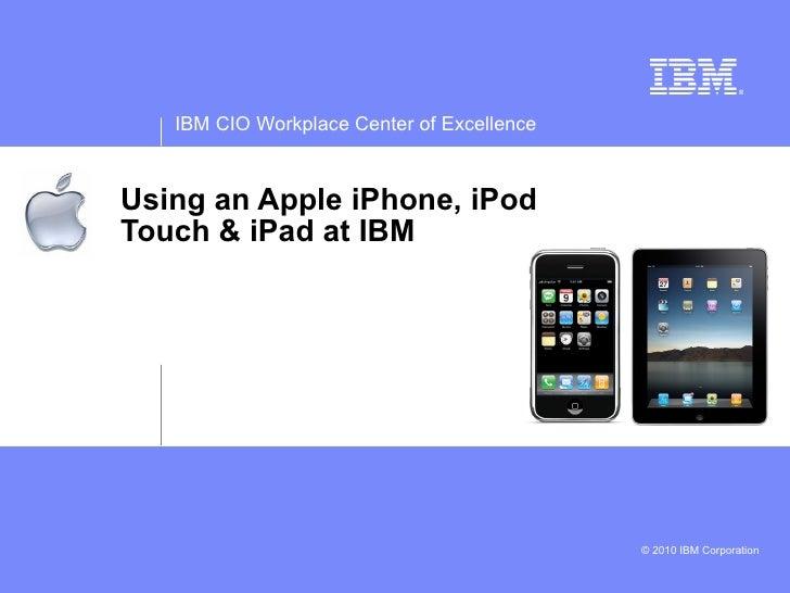 Apple iPhone and iPad at IBM