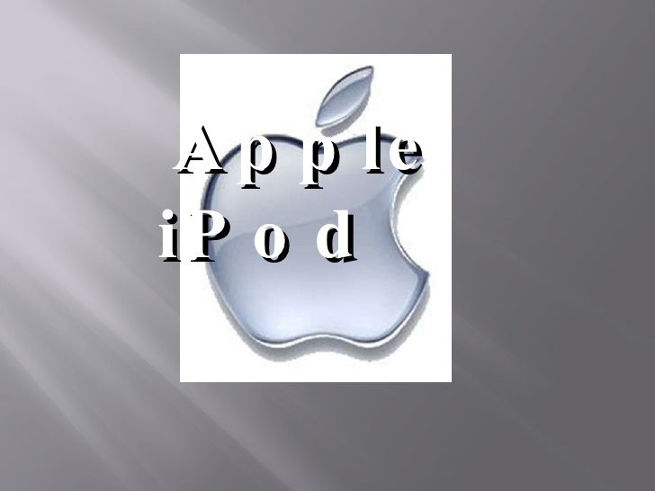Apple Ipod ppt