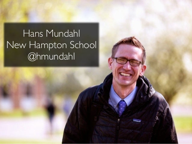 Hans Mundahl! New Hampton School! @hmundahl
