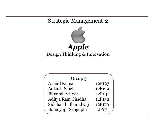 Apple Strategic Management-2 1 Group 5 Anand Kumar 12P127 Ankush Singla 12P129 Bhoomi Ashwin 12P131 Aditya Ram Chadha 12P1...