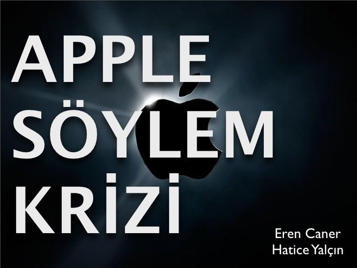 Apple söylem krizi