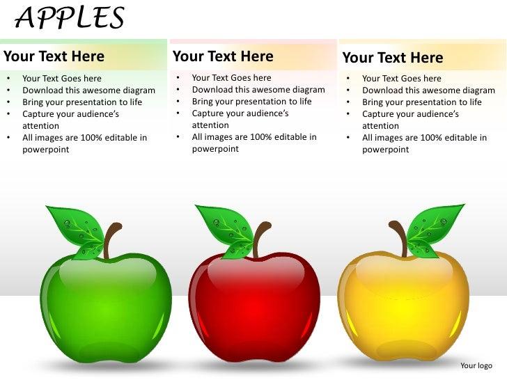 Apples powerpoint presentation templates