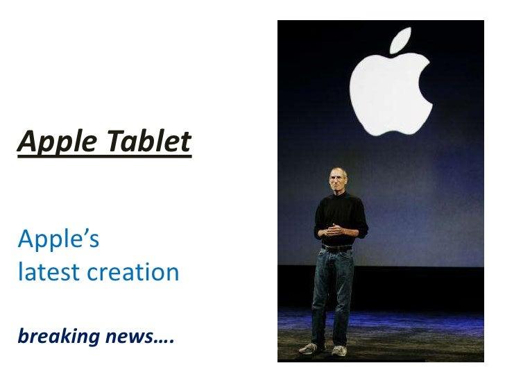 Apple's Tablet - IPAD