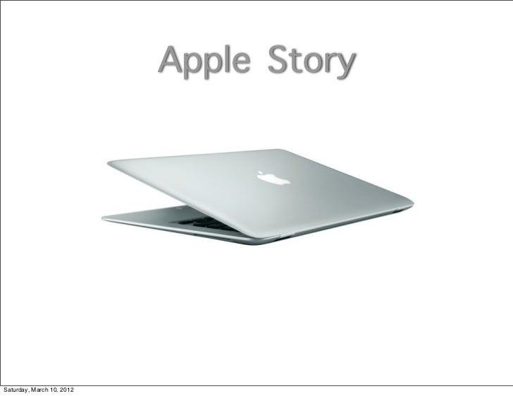 Apple StorySaturday, March 10, 2012