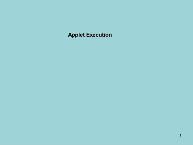 Applet execution