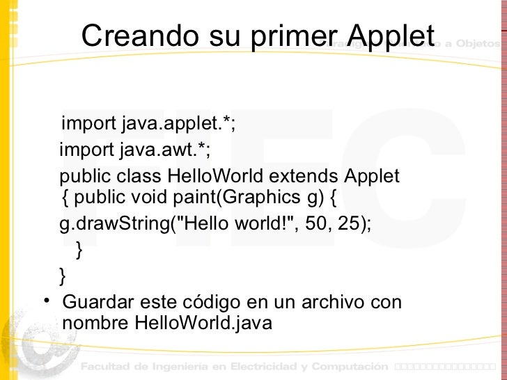 how to run applet program in java