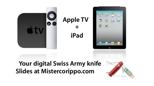 Apple TV                    +                  iPad Your digital Swiss Army knifeSlides at Mistercorippo.com