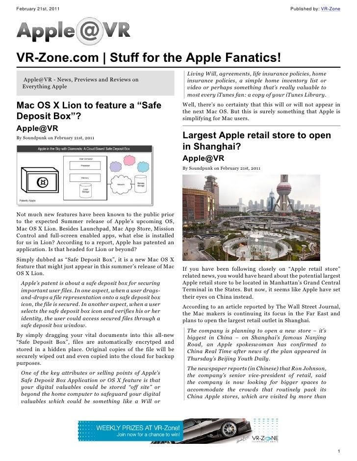 Apple@VR | Stuff for the Apple Fanatics (Feb 21 Issue)